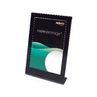 DEFLECTO Expositor sobremesa A4 Marco color negro 69775EU, (1 u.)