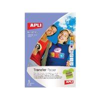APLI Papel transferencia Inkjet 5 hojas 10247, (1 u.)