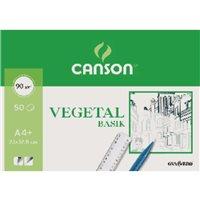 GUARRO CANSON Papel Vegetal 12 Hojas A4 90 Gr 200407621, (1 u.)