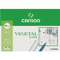 GUARRO CANSON Papel Vegetal 12 Hojas A3 90/95 Gr 200400787, (1 u.)