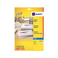 AVERY Etiquetas inkjet Caja 25 hojas 63,5X46,6 Blancas J8161-25, (1 u.)