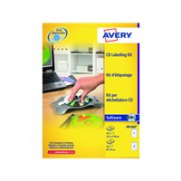 AVERY Kit etiquetado CD/DVD After Burner AB1800, (1 u.)
