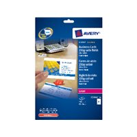 AVERY Tarjeta visita  caja 250 ud 85x54mm laser Acabado imprenta bordes lisos C32016-25, (1 u.)