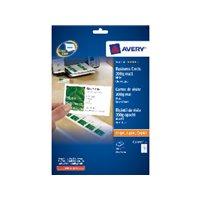 AVERY Tarjeta visita  caja 100 ud 85x54mm Inkjet/laser/copia Acabado imprenta bordes lisos C32011-10, (1 u.)