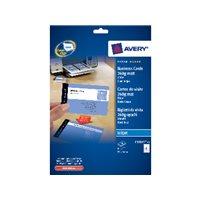 AVERY Tarjetas de visita Caja 10 hojas 85x54 mm Inkjet mate C32015-10, (1 u.)
