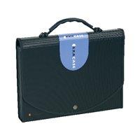 EXACOMPTA Carpeta clasificadora Exacase 13 compartimentos A4 Extensible Negro 55934E, (5 u.)