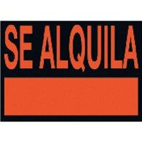 UNIPAPEL Cartel anunciador Se alquila 50x35cm PVC 6166NE, (5 u.)