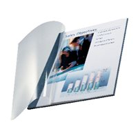 LEITZ Cubiertas encuadernación Impressbind Caja 10 ud Azul A4 Lino 73990035, (1 u.)