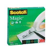 SCOTCH Cinta adhesiva Magic Invisiblemedidas 12 mm. x 33 m.ref.70005258721, (24 u.)