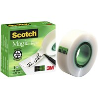 SCOTCH Cinta adhesiva Magic Invisible medidas 19 mm. x 33 m. ref.70005241826, (12 u.)