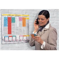 NOBO Kit Office Planner 48x48 cm Indice 2 24 Ranuras 2911080, (1 u.)