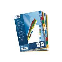 ELBA Separadores Colores Print 10 posiciones A4 Polipropileno 100205063, (25 u.)