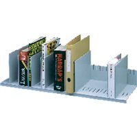 PAPERFLOW Clasificador 10 casillas moviles Regulable 21x80,2x27,5cm Gris 4932.02, (1 u.)