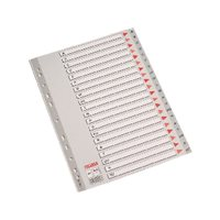 ESSELTE Separadores alfabeticos A-Z A4 Multitaladro Gris 100112, (10 u.)