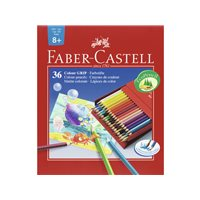 FABER CASTELL Estuche lapices Colores Surtidos 36 ud Acuarelables 112436, (1 u.)