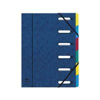 EXACOMPTA Carpeta clasificadora 12 posiciones A4 Con fuelle Azul Cartulina   55122E, (6 u.)