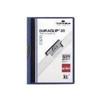 DURABLE Dossiers clip Duraclip Capacidad 60 hojas A4 Azul oscuro PVC 2209-07, (25 u.)