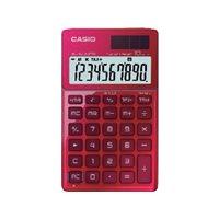 CASIO Calculadoras 10 digitos Solar y pila SL-1000TW RD, (1 u.)