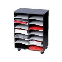 PAPERFLOW Mueble multiuso 14 compartimentos 69,9x54,2x32,2cm A4 Negro DC14.01, (1 u.)