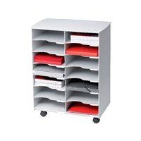 FAST Mueble multiuso 14 casillas 14 compartimentos 69,9x54,2x33,2cm A4 Gris DC14.02, (1 u.)