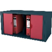 PAPERFLOW Módulo EASYBLOC Puertas batientes 39,5x78x39 cm Antracita/Rojo MB13PT.18, (1 u.)