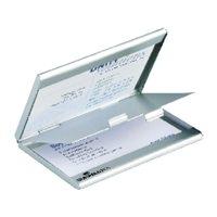 DURABLE Tarjetero Duo 90x50  Para 20 tarjetas aluminio mate 876462, (1 u.)