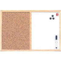5 STAR Tablero Anuncios  60x90 cm corcho+pizarra blanca MX07001010, (1 u.)