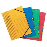 5 STAR Carpeta clasificadora 12 departamentos A4 Rojo 907417, (5 u.)