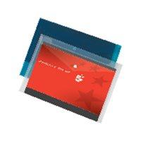 5* Sobre polipropileno Paquete 5 ud A4 Con broche Azul UNP030, (1 u.)
