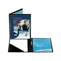 IBERPLAS Carpeta congresos personalizable A4 335x267x8mm Negro 455C, (7 u.)