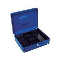 5 STAR Caja de caudales Acero 30X24X9 Azul Cerradura con llave, (1 u.)