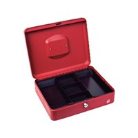 5 STAR Caja de caudales Acero 30cm Rojo Cerradura con llave, (1 u.)