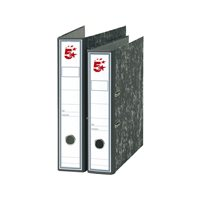 5 STAR Archivador Palanca Folio Lomo 75mm Jaspeado Negro 23257, (20 u.)