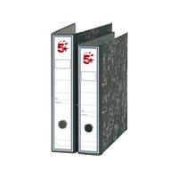 5 STAR Archivador Palanca Folio Lomo 75mm Jaspeado Negro 922552, (20 u.)