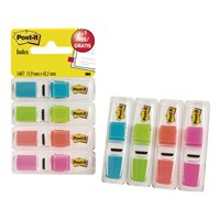 POST-IT Indices adhesivos Index Pack 3+1 gratis 25,4 x 43,1 mm Colores surtidos 70005040152, (6 u.)