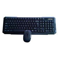 CATKIL Pack teclado + ratón inalámbricos Chicago óptico usb negro ctk021, (1 u.)
