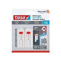 TESA Clavo Adhesivo Ajustable hasta 1Kg para Pared Pintada 777740000100, (8 u.)