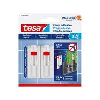 TESA Clavo adhesivo ajustable hasta 3Kg para azulejos 777640000100, (8 u.)