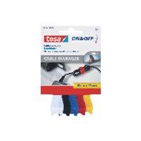 TESA Organizador de cables Manager 20cm x 12mm/pack 5 unidades/colores surtidos 55236-00000-01, (12 u.)
